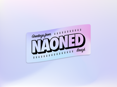 Greetings from Naoned - Holographic Sticker 🌈 vector contest greetings typography design vintage logo illustrator gradient breizh nantes sticker retro illustration holographic stickers