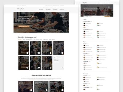 Catering Website 🥘 branding website landing design ux ui interface webdesign caterer catering home