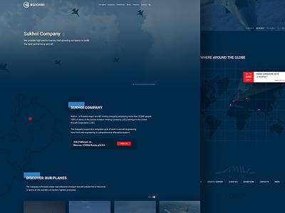 Sukhoi Home Concept aircraft redesign ux ui landing webdesign sukhoi website home