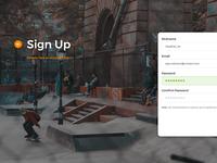 Skateboarding - Sign Up Web