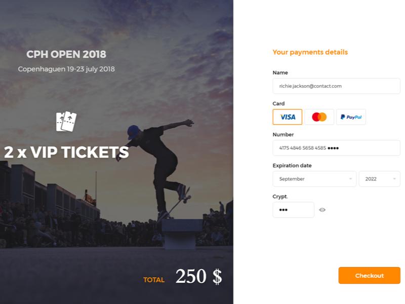 Copenhagen Open 2018 - Checkout Web by Richard Foucaud | Dribbble
