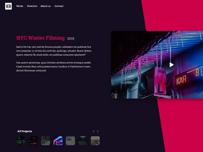 Advertising Agency - Home Page website webdesign ux ui home page home advertising video agency