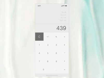Calculator ux mobile ui design dailyui