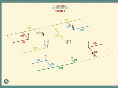 Serie 2017 - Diagram - Track Design - FPV Racing Mexico ux vector graphic design design