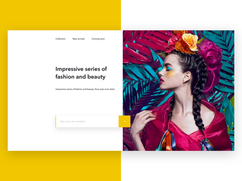 fashion & beauty e-commerce site by tatiana on Dribbble