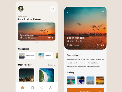 A Travel App app design ux ui product design