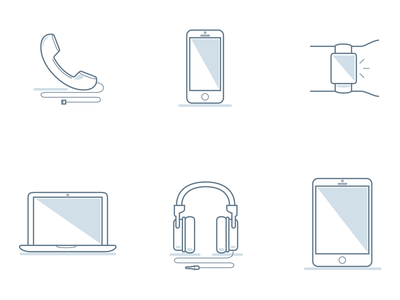 Phone Room Iconography mobile communication poster illustration line work print office phone room