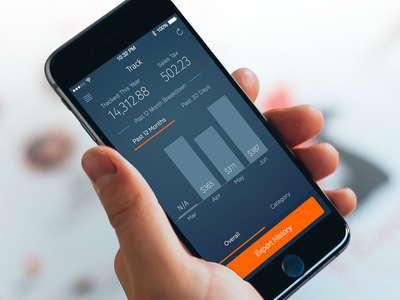 ReceiptBin Mobile Track Screen receipt track mobile ios android data analytics receipts receiptbin export expense