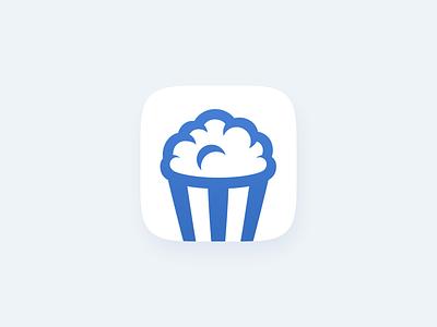 Cinemarun App Icon illustration popcorn cinema film movies mobile app mobile app icon icon ios