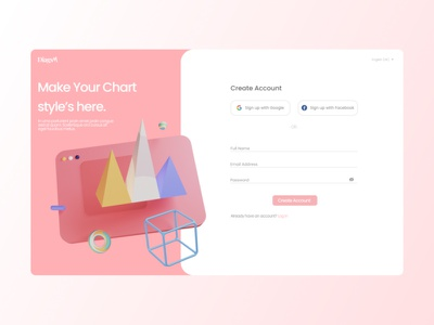 Diags - Sign Up Page web ui design