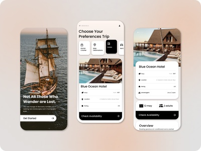 Travel App (Labuan Bajo) mobile design ui