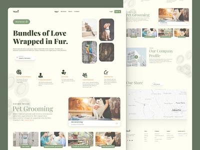 Meow - Pet Shop clean design logo mobile web ui