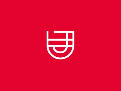 JD Scaffolding Monogram monoweight d j jd monogram logo branding geometric illustration