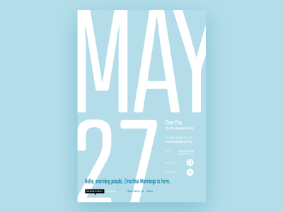 Creative Mornings: Chattanooga Promo layout copy promo typography poster poster design chattanooga blue creative mornings atrament big type