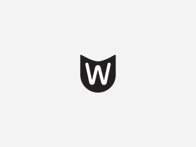 W Emblem keepitugly monochrome simple geometry shield emblem w brand