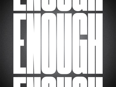 Enough film grain narrow condensed poster typeset ritual typography enough
