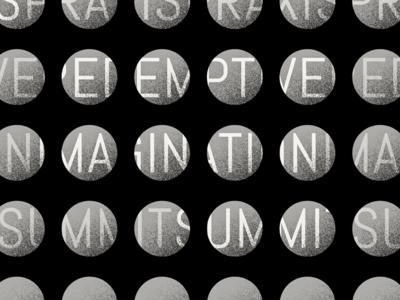 001—Crunchy grain texture abel event design pattern branding geometric typography illustration