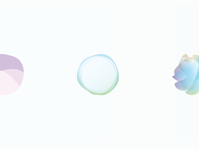 Bubbles and Amoebas. circular pastel colorful identity blending modes ai abstract brand