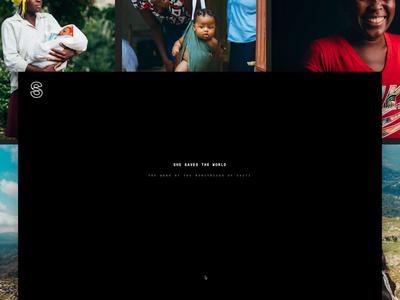 She Saves the World gt pressura grillitype dark web design narrative internet humanitarian creative direction media direction photography brand design digital editorial interaction design web design