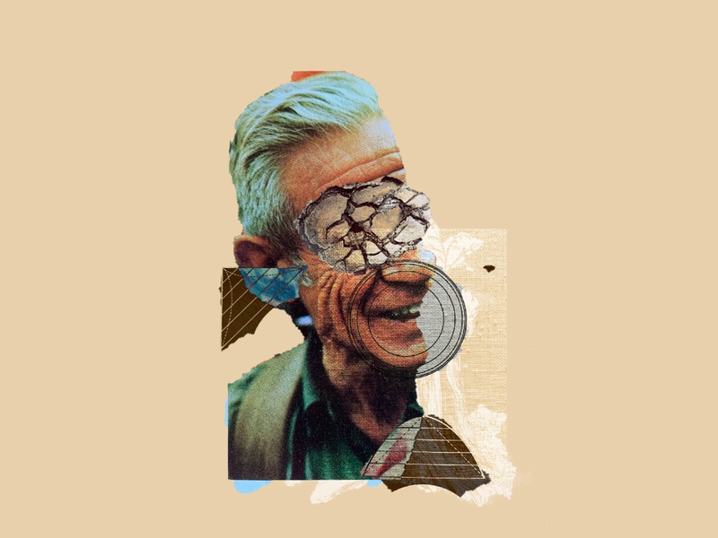 Collage Exploration / 01 abstract portrait face adobe photoshop mix illustration collage