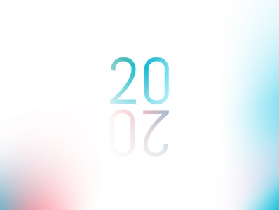 2020 brand design colorful bright abstract typography gradient campaign design