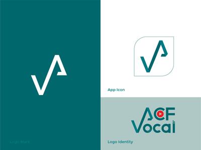 acf vocal logo design studio vocal music icon design play button logo design branding music icon creative logo design logo