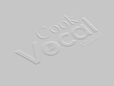 cook vocal logo design