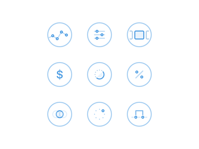 Abstract Icons products coupons settings dashboard shapes ui icons