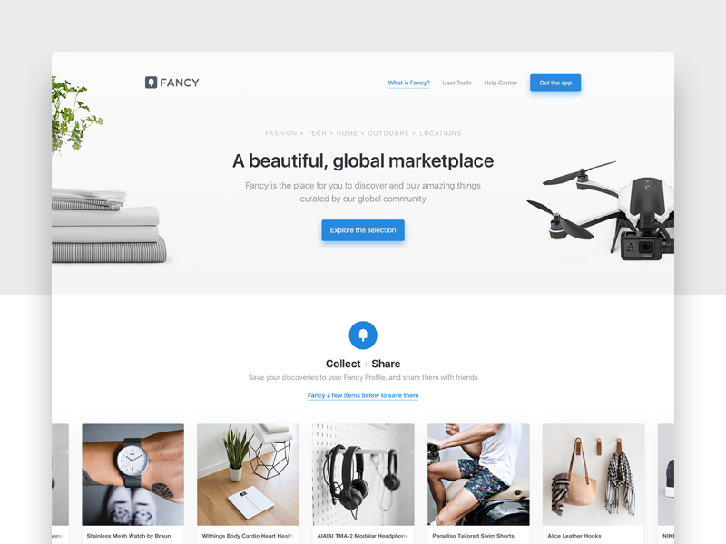 About Page ecommerce shop white space typography web clean landing about