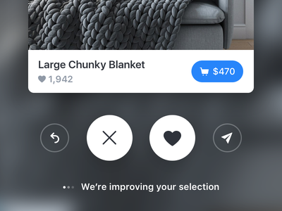 Large Chunky Blanket app card buy share love heart chunky ui ios blanket