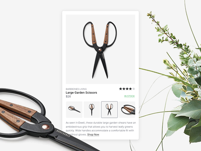 Product Overlay detail product store shop commerce hover popup overlay ui design scissors