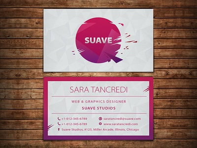 Suave Elegant Business Card