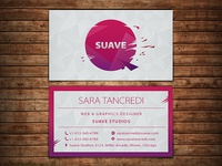 Suave Elegant Business Card