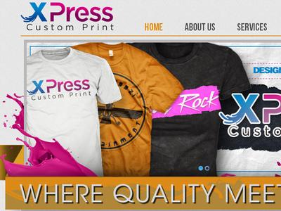 XPress Custom Print Website