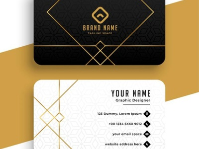 Golden Colour Card For Businessess