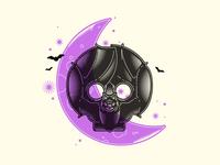 Bat Skull Moon