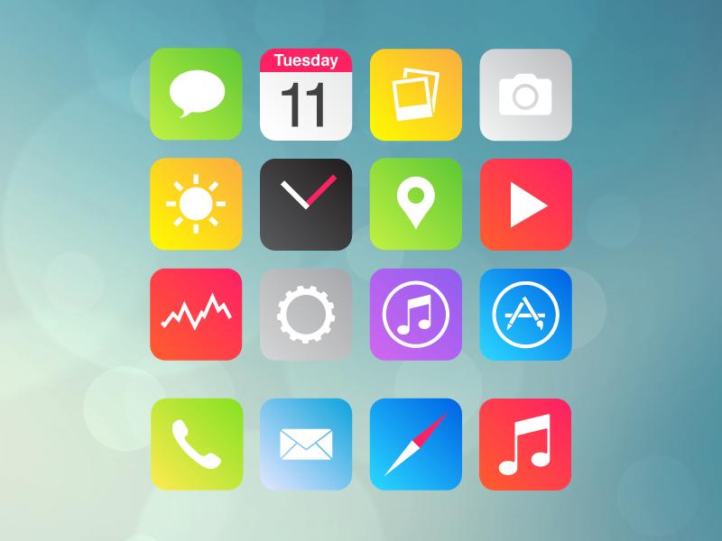 iOS 7 Re-Design ios 7 re design