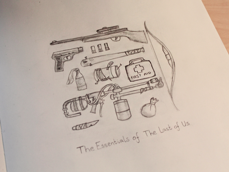 The Essentials of The Last Of Us the last of us sketch essentials