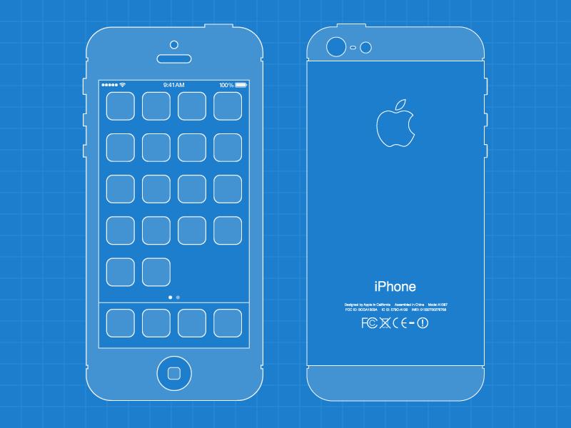 iPhone 5 Blueprint iphone 5 blue print template