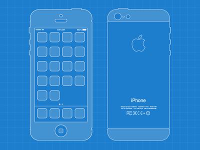 Iphone 5 blueprint by lewis jones dribbble iphone 5 blueprint malvernweather Images
