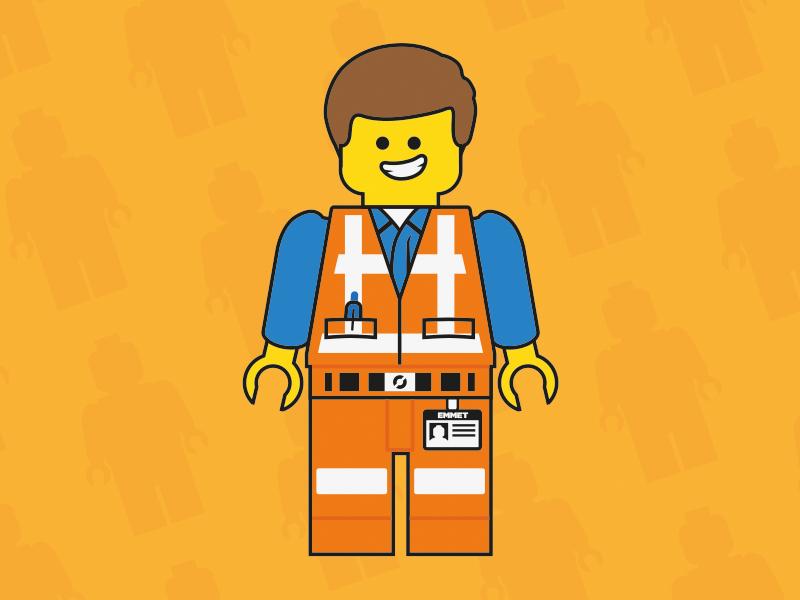 Emmet The Construction Worker emmet lego movie illustration character