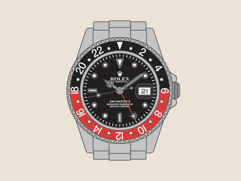 Rolex GMT Master II watch illustration rolex