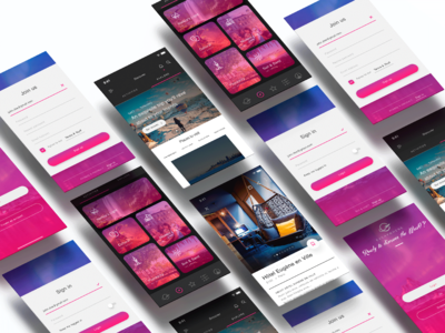 Perspective Mockup Travel Agency UI kit