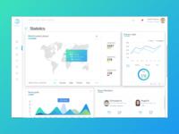 Oxygen Dashboard Stats webdesign