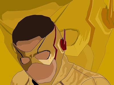 Kid Flash graphic design