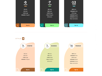 Pricium typography border radius colorful hover animation css flex css animation css grid responsive bootstrap ui elements