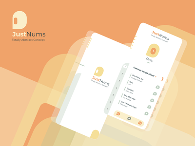 Just Nums conceptual yellow green orange color mobile prototype animation product design ux design ui