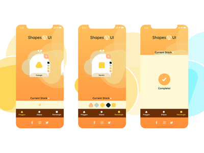 Shapes & UI yellow product design mobile logo hue conceptual animation ux ui color