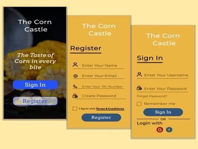 Sign In and Sign Up Design ux ui design