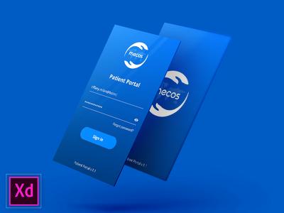 Adobe XD First Project ehr health xd website ux ui app iphone download design demo adobe